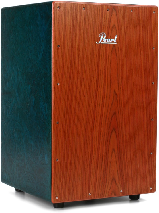 Pearl Eco-Acoustic Cajon - Green w/Brown Faceplate image 1