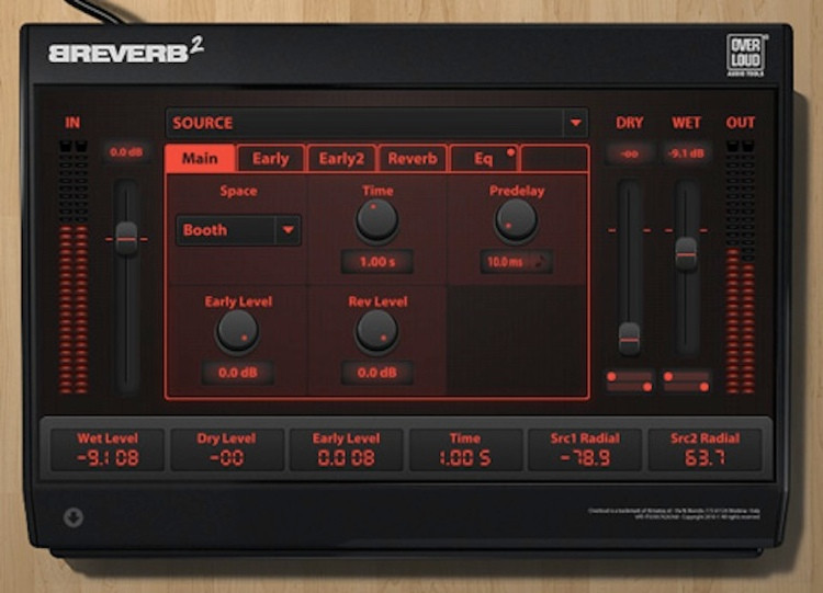 Overloud Breverb 2 Digital Reverb Suite image 1
