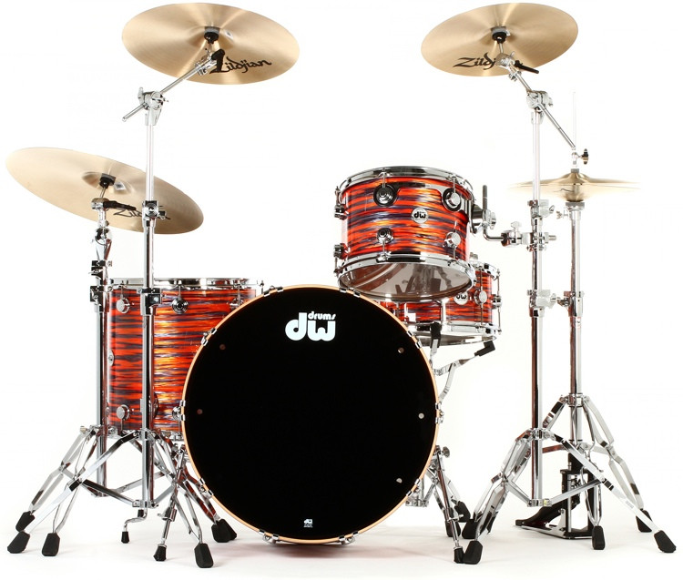 DW Collector\'s Series FinishPly Maple/Mahogany Shell Pack - 4-pc - Tiger Oyster image 1