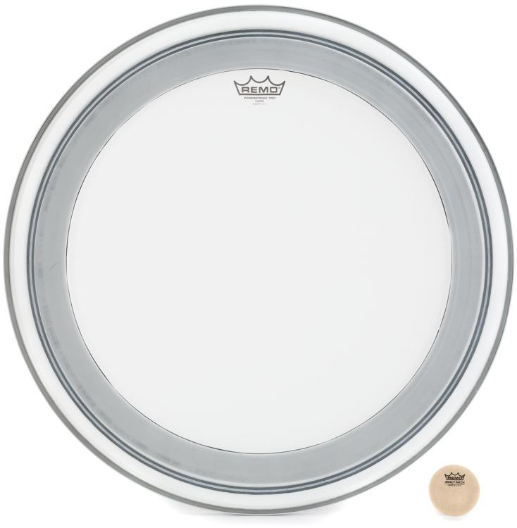 Remo Powerstroke Pro Coated Bass Drum Head - 24