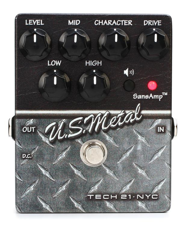 tech 21 character series u s metal distortion pedal sweetwater. Black Bedroom Furniture Sets. Home Design Ideas