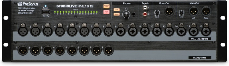 presonus rml16ai rackmount digital mixer sweetwater. Black Bedroom Furniture Sets. Home Design Ideas