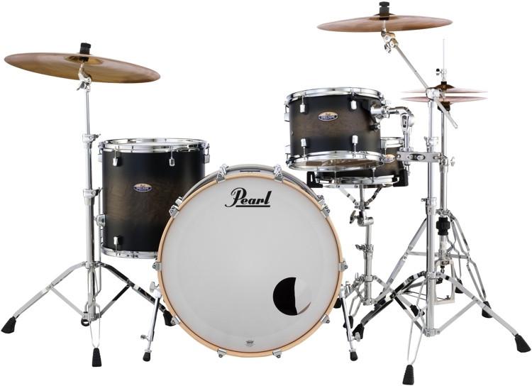 Pearl Decade Maple Shell Pack - 3pc - Satin Blackburst image 1