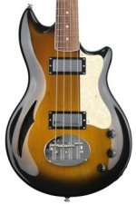Lakland Skyline Hollowbody 30 Short Scale -Tobacco Sunburst, Rosewood