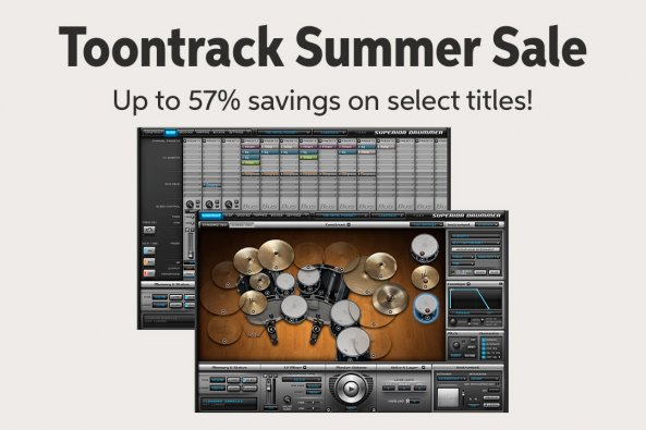 Toontrack Summer Sale Up to 570k savings on select titles!