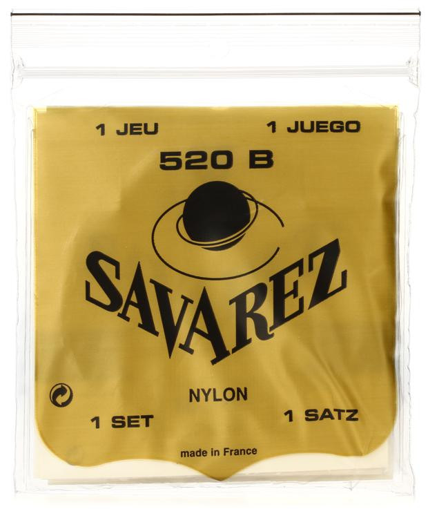 Savarez S.A. 520B Rectified Nylon Low Tension Classical Guitar Strings image 1