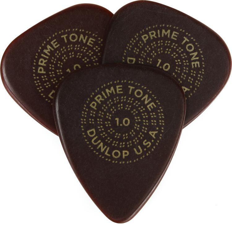Dunlop Primetone Standard Smooth Pick 1.0mm 3-pack image 1