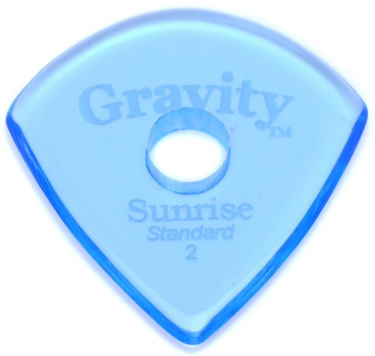 Gravity Picks Sunrise - Standard Size, 2mm, w/Round-hole Grip image 1
