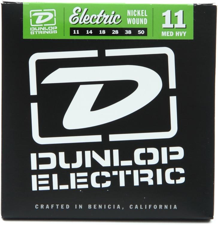 Dunlop DEN1150 Nickel Plated Steel Electric Strings - .011-.050 - Medium Heavy image 1
