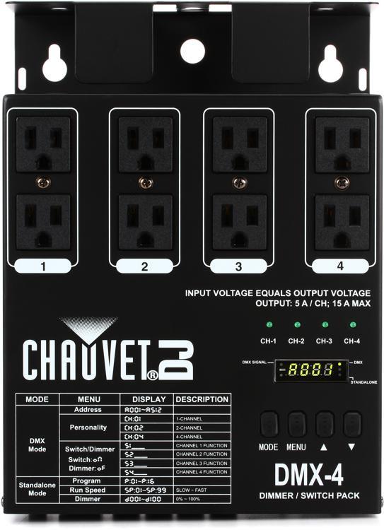 Chauvet DJ DMX-4 4-Ch DMX Dimmer/Switch Pack image 1