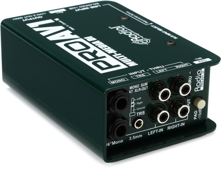 Radial ProAV1 1-channel Passive A/V Direct Box image 1