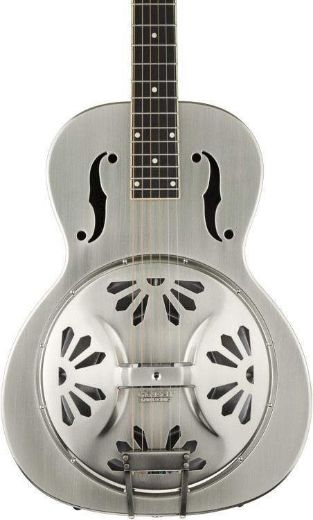 Gretsch G9221 Bobtail Round-neck Steel Body Spider Cone Nashville Resonator - 2 Color Sunburst image 1