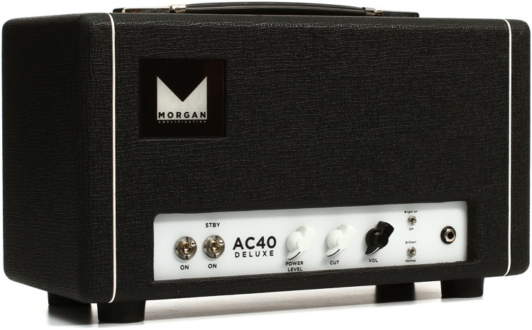 Morgan Amps AC40 Deluxe 40-watt Power-scaled Head - Black image 1