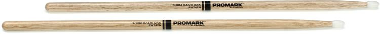 Promark Shira Kashi Oak Drumsticks - 747 - Nylon Tip image 1
