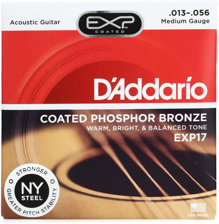 D\'Addario EXP17 Coated Phosphor Bronze Medium Acoustic Strings image 1