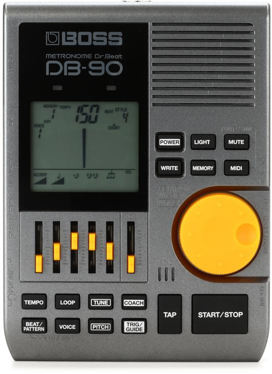 boss db 90 dr beat metronome with tap tempo sweetwater. Black Bedroom Furniture Sets. Home Design Ideas