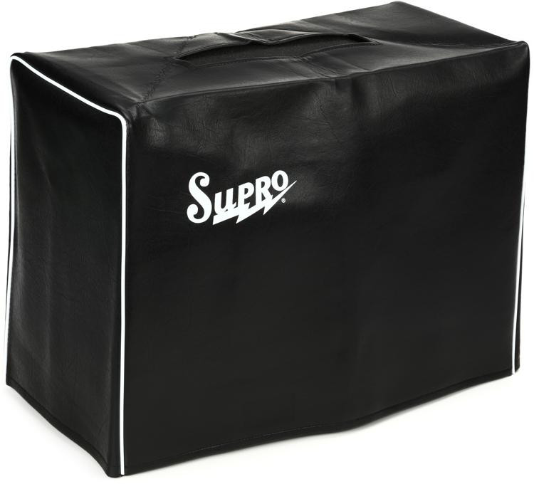 Supro Black Vinyl Amp Cover w/Logo - 1x10