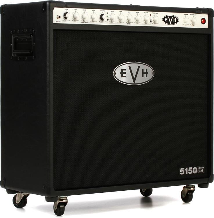 evh 5150 iii 50 watt 2x12 tube combo amp black sweetwater. Black Bedroom Furniture Sets. Home Design Ideas