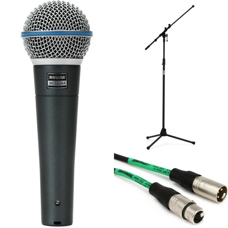 Shure Beta 58A Handheld Microphone with Stand and Cable image 1