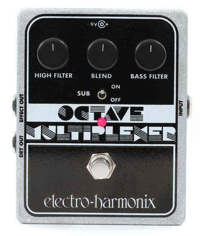 electro harmonix octave multiplexer analog sub octave generator pedal sweetwater. Black Bedroom Furniture Sets. Home Design Ideas