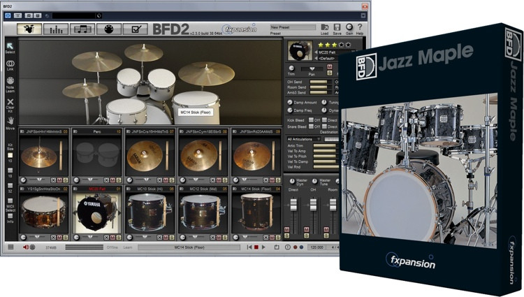 FXpansion BFD Jazz Maple Expansion Pack image 1