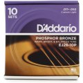 D'Addario EJ26 Phosphor Bronze Custom Light Acoustic Strings 10-Pack