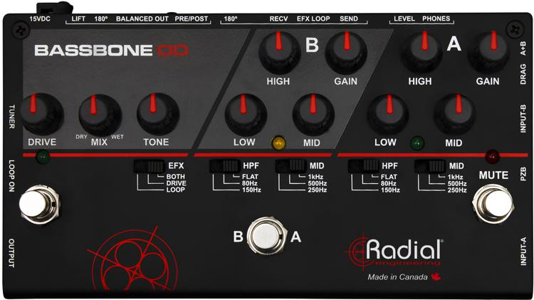 Radial Bassbone OD - Bass Preamp image 1