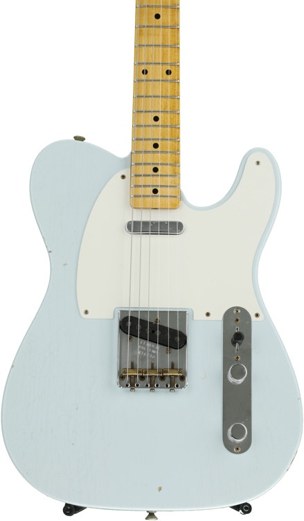 Fender Custom Shop \'50s Telecaster Journeyman Relic - Faded Sonic Blue with Maple Fingerboard image 1