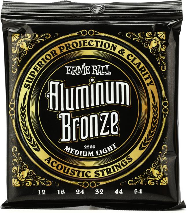 Ernie Ball 2566 Aluminum Bronze Acoustic Strings - .012-.054 Medium Light image 1