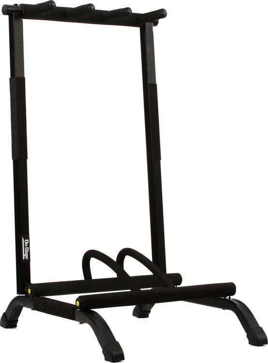 On-Stage Stands GS7361 - 3-Space Foldable Multi Guitar Rack image 1