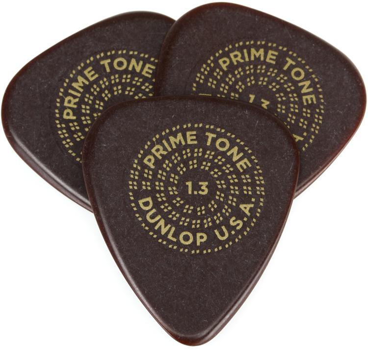 Dunlop Primetone Standard Smooth Pick 1.3mm 3-pack image 1