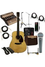 Martin Acoustic Guitar Club Package - Natural