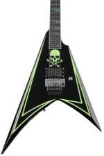 ESP LTD ALEXI-600 GREENY - Black with Green Skull & Stripe