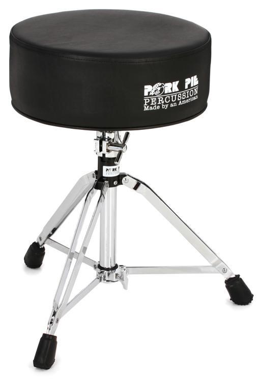 pork pie percussion gel drum throne black sweetwater. Black Bedroom Furniture Sets. Home Design Ideas