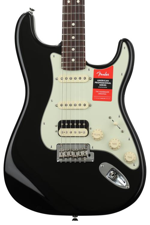 Fender American Professional HSS Shawbucker Stratocaster - Black with Rosewood Fingerboard image 1
