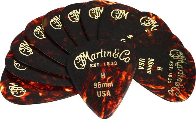Martin Faux-tortoise #1 Guitar Picks 12-Pack - 0.96mm Heavy image 1