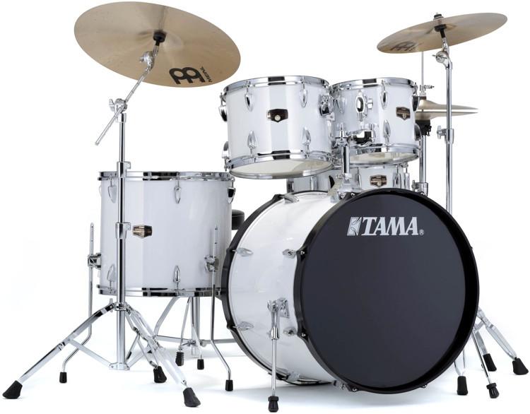 tama 2016 imperialstar complete drum set 5 piece sugar white sweetwater. Black Bedroom Furniture Sets. Home Design Ideas