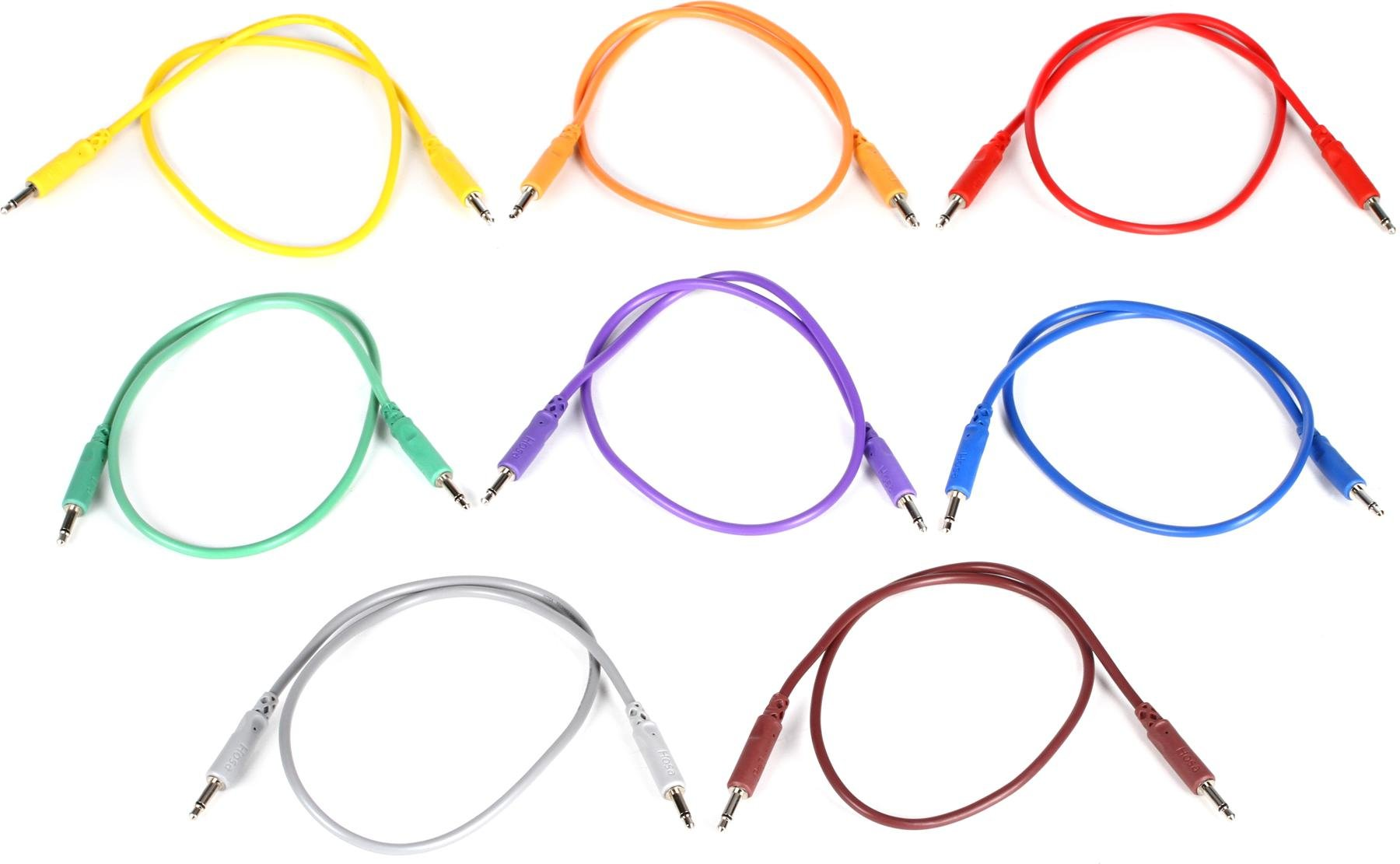 """PCA VIOLET 5 PACK LMNTL 12/"""" 3.5mm Eurorack Modular Synth Patch CABLE"""