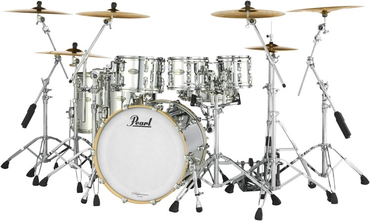 Pearl Music City Custom Reference Series Shell Pack 6-piece - Mirror Chrome image 1