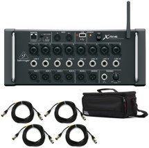 Behringer X Air XR16 Digital Mixer with Case and Cables