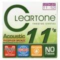 Cleartone 7411 EMP Phosphor Bronze Acoustic Guitar Strings - .011-.052 Custom Light