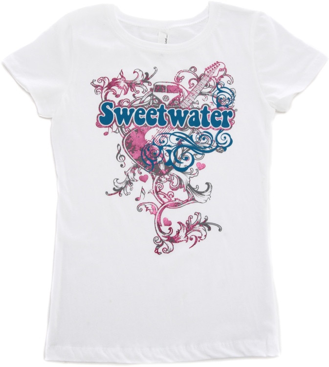 Sweetwater White Foil T-shirt - Girls\' Small image 1