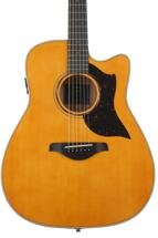 Yamaha A3M Dreadnought Acoustic-Electric with Cutaway - Vintage Natural