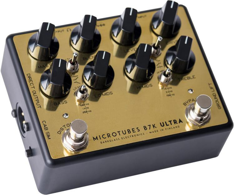 darkglass microtubes b7k ultra v2 bass preamp pedal gold sweetwater. Black Bedroom Furniture Sets. Home Design Ideas