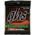 GHS BB10U Bright Bronze - 80/20 Bronze Ultra Light Acoustic Guitar Strings