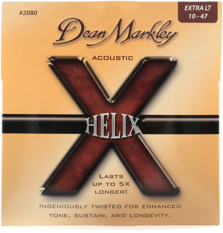 Dean Markley 2080 Helix HD 80/20 Bronze Extra Light Acoustic Strings image 1