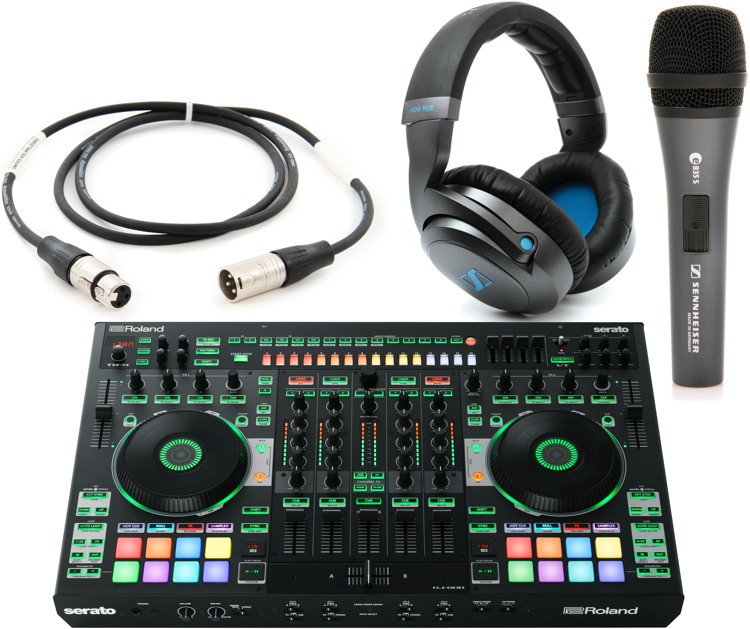 Roland DJ808 with Sennheiser HD6 Mix, e835 S, and Cable image 1