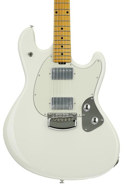 ernie ball music man stingray guitar ivory white sweetwater. Black Bedroom Furniture Sets. Home Design Ideas