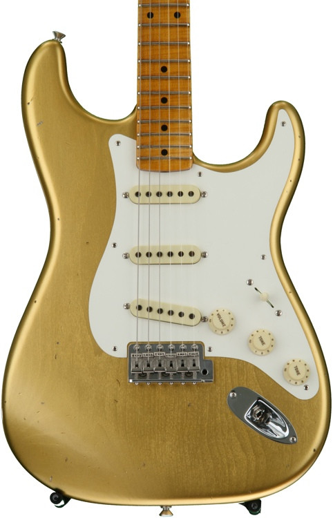 Fender Custom Shop 1950s Stratocaster Journeyman Relic Closet Classic - Aged Aztec Gold with Maple Fingerboard image 1