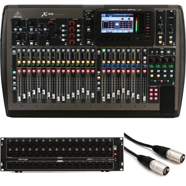 X32 Digital Mixer with S32IO Stage Box